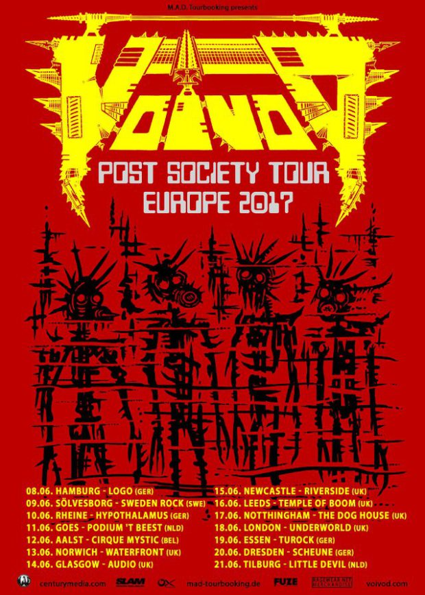 Post Society tour poster