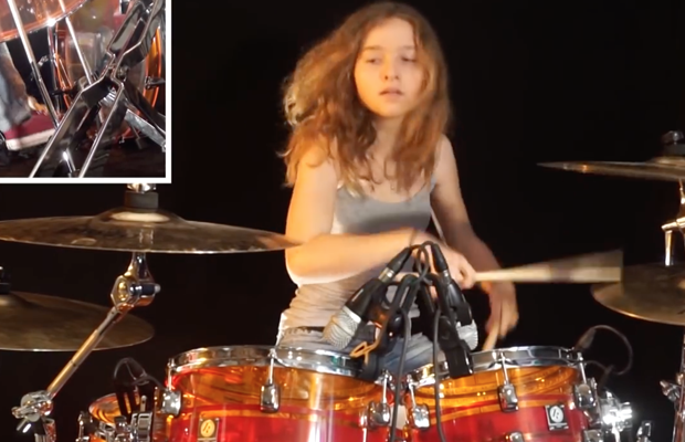 """Watch: Young Girl's Drum Cover of YES' """"Roundabout"""""""