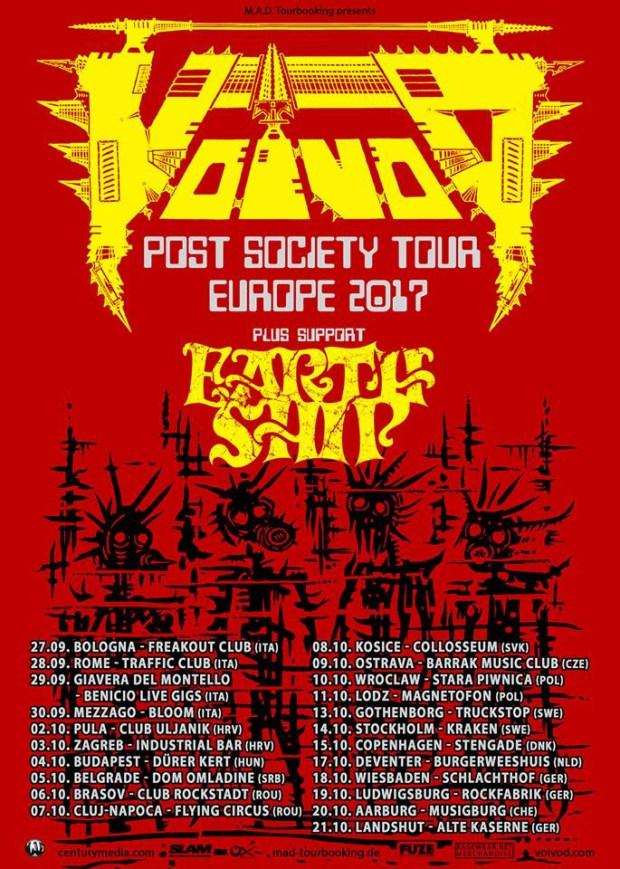 Voivod - European tour 2017 poster