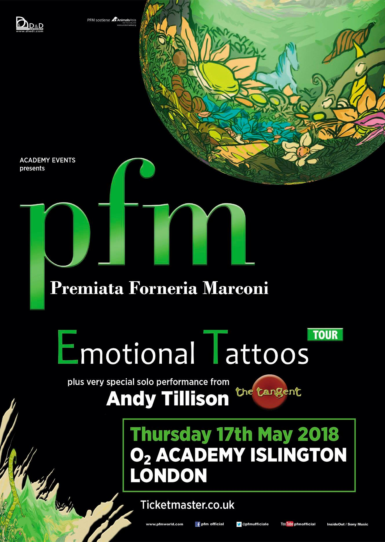 Andy Tillison – London Gig, May 17th – with support from PFM!