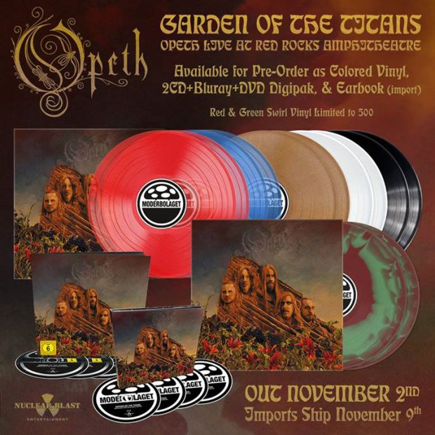 Opeth - Garden of the Titans formats