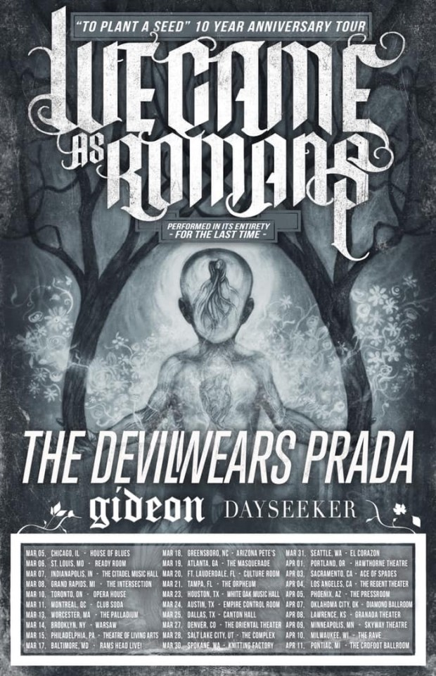We Came as Romans tour dates