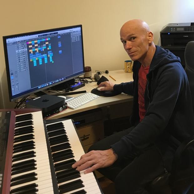 Mark Kelly in the studio